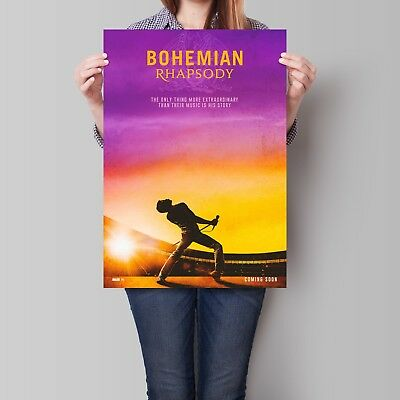 Bohemian Rhapsody Movie Poster Rami Malek as Freddie Mercury Art Print
