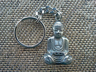 RUB HIS BELLY FOR LUCK ANCIENT INDIA JEWELRY 1 BUDDHA PEWTER KEY CHAIN All New