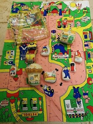 Rare vintage retro Noddy's Soft Toytown Play set pack mat Boots book character