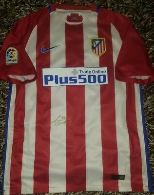 7b95e488e8f73 Godin Signed shirt Atletico de Madrid Uruguay proof match worn Suarez  Jimenez