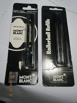 lot of 2 packs Montblanc Rollerball refill ink