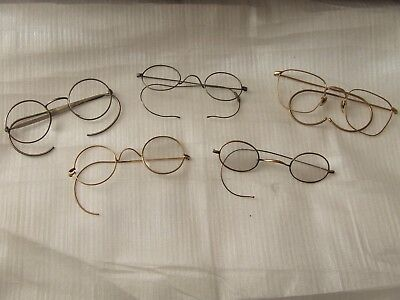 Five Pairs Of Vintage Wire Spectacles – Spares?