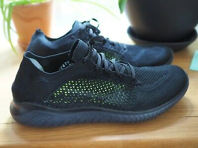reputable site 85145 c7fae Mens Nike Free Rn Flyknit 2018   Size 14   Black - Anthracite