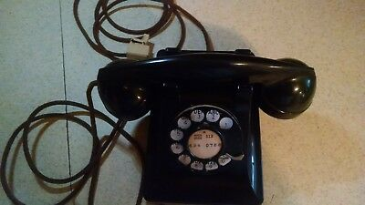 Vintage WESTERN ELECTRIC Bell System Rotary Desk Phone TELEPHONE F1 BLACK