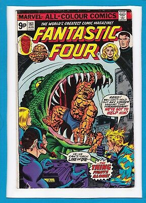 "Fantastic Four #161_Aug 1975_Very Good_""the Thing Fights Alone""_Bronze Age Uk!"