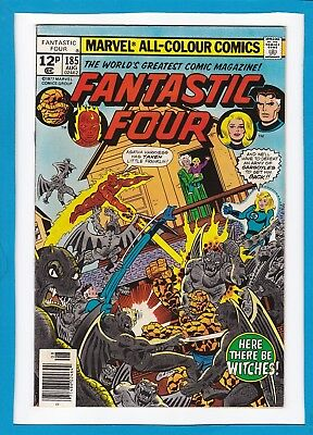 "Fantastic Four #185_August 1977_Nm Minus_""here There Be Witches""_Bronze Age Uk!"