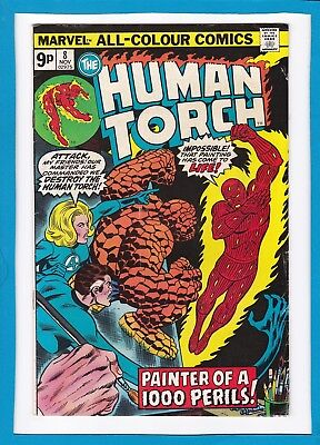 "Human Torch #8_Nov 1975_Fine+_""painter Of A 1000 Perils""_Bronze Age Marvel_Uk!"