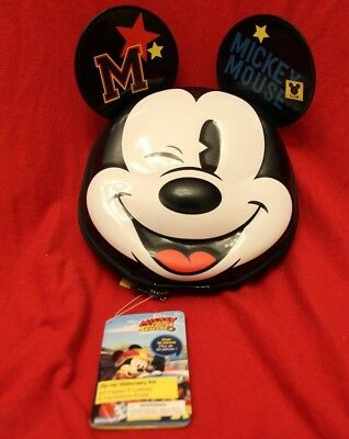 NWT Disney store Mickey Mouse Zip up stationary Kit School Supplies
