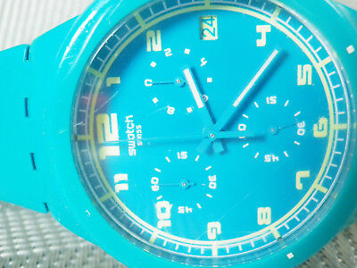 Precioso Swatch Con Cronometro Increible Estado Alegre Y Veraniego Lote Watches