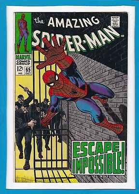 "Amazing Spider-Man #65_Oct 1968_Very Good+_""escape Impossible""_John Romita!"