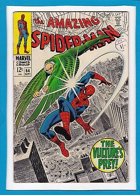 "Amazing Spider-Man #64_Sept 1968_Fine Minus_""the Vulture's Prey""_John Romita!"