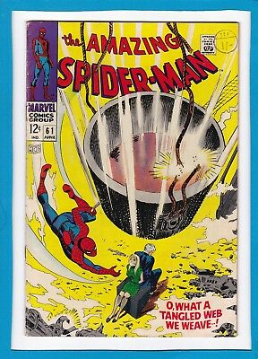 AMAZING SPIDER-MAN #61_JUNE 1968_VERY GOOD+_1st GWEN STACY COVER APPEARANCE!