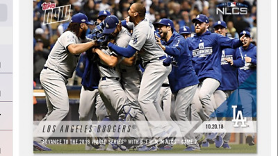 2018 Topps Now Nlcs Card Game #7 Card Los Angeles Dodgers #925 Advance To Ws