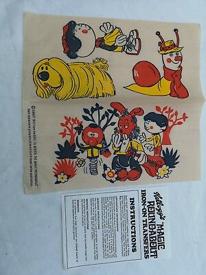 Rare Vintage 1970's Kelloggs The Magic Roundabout Transfers Unused ± instruction