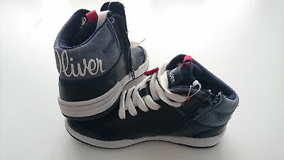 33 Navy Gr High Top Sneaker Kinderschuh S.oliver