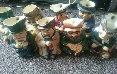 Roy Kirkham Pottery. Complete set of Tinker, Tailor....etc. Hand Painted.