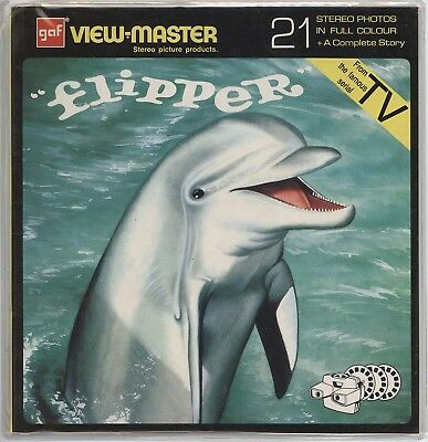 "View-Master Flipper TV Show - Factory Sealed - Unique 8""x 8""  Packet"