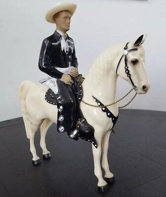 Vintage Hopalong Cassidy & Topper Large Horse W/ Guns