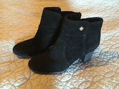 Tory Burch Black Suede leather Ankle boots SIze 7