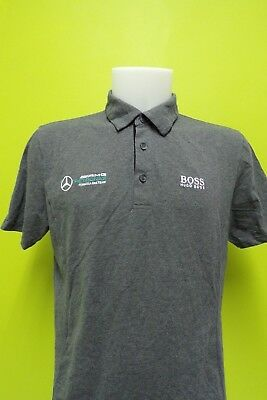 Hugo Boss Mercedes Amg Petronas F1 Team Issue Polo Shirt Mens Medium 2017