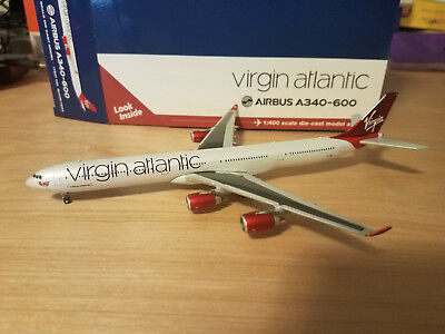 Gemini Jets (Gjvir1634) Virgin Atlantic A340-600 1:400 Scale Diecast Metal Model