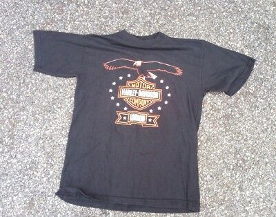 Vtg Harley Davidson Motorcycles London T Shirt Biker Motorcycle