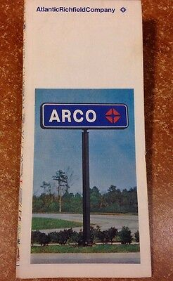 Vintage Road Map - Atlantic Richfield Co / ARCO - New Jersey - 1971 Edition
