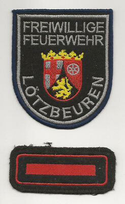 Authentic Firefighter Shoulder Patch From Lotzbeuren, Germany