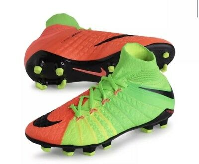 hot sale online e86b0 93e84 Nike Jr Hypervenom Phantom III FG Soccer Cleats Sz 4.5Y 882087-308 Green  Orange