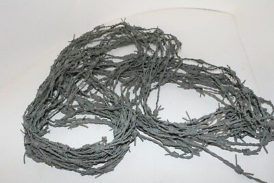 Leather barbed wire, 10 yards of gray color made with 2 mm leather cords. v1085