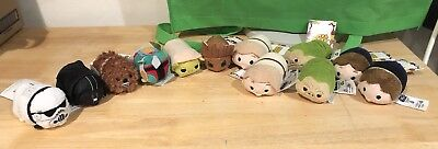 NEW with Tags Lot of 12 Disney Mini Tsum Tsum Plush Star Wars Groot Vader Solo