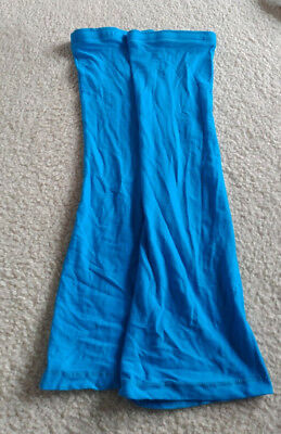 Deco Dancewear Blue Ballet Leg warmers Size Small Long