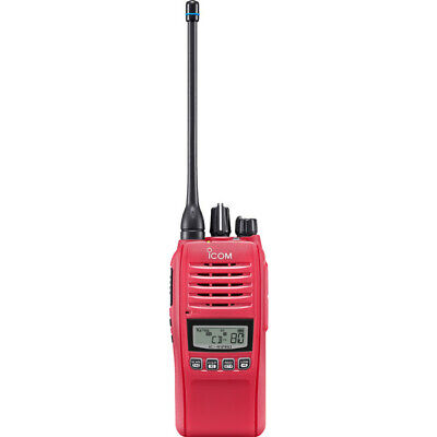 IC41PRO-RED iCom Special Edition Red UHF Ip67 80Ch Hand Held Radio