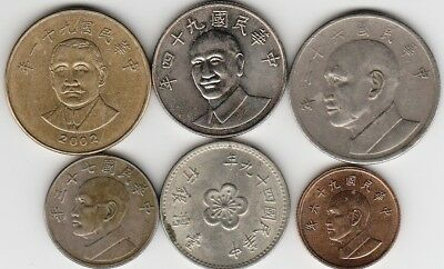 6 different world coins from TAIWAN
