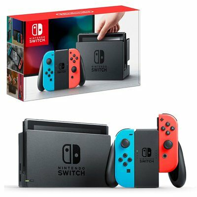 OFFICIAL NINTENDO SWITCH NEON CONSOLE AU STOCK PO BRAND NEW + 12 Months Warranty