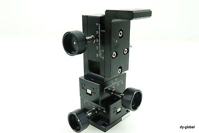 MMT Manual Dovetail Stage Used XYZ Positioner D3-618-L5 60X40X30 STA-I-170