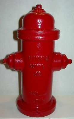 Vintage Miniature Fire Hydrant Paperweight Tulsa Oklahoma Utility Supply Co