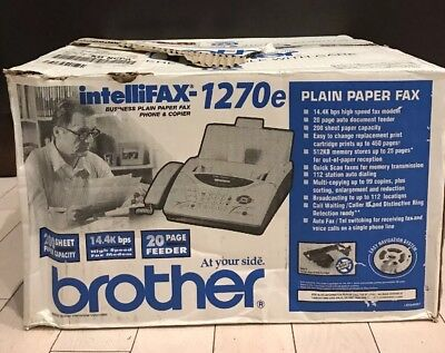 Brother Intellifax 1270e Paper Fax Machine Phone & Copier New Open Box
