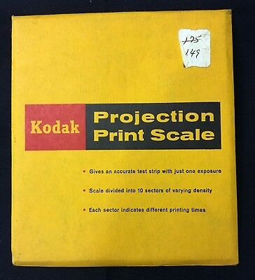 Vintage Kodak Projection Print Scale - 1965 - Original Package And Instructions