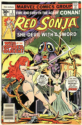 RED SONJA #3, Spider Queen, MARVEL, original owner, HIGH GRADE