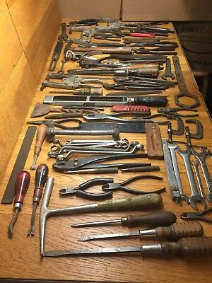 Large Lot of 77 Assorted Antique & Vintage Tools