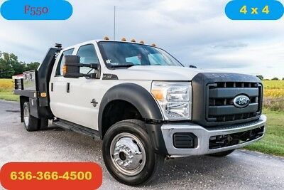 2011 Ford F550 XL Used flatbed 4wd 6.7 powerstroke diesel crew fuel cell 1 owner