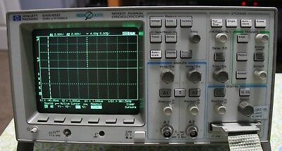 Hp 54645D 100Mhz Mixed Signal Oscilloscope 2+16 Channels With Data Probes Bonus