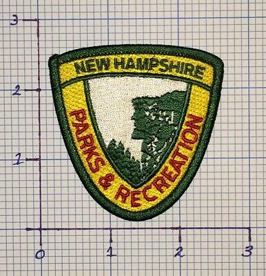 New Hampshire Parks & Recreation Embroidered Patch With Old Man Of The Mountains