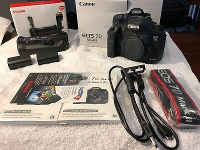 Canon EOS 7D Mark II 20.2MP Digital SLR Camera With Battery Grip and Wi-FI