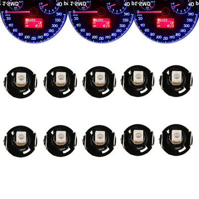10Pcs Blue T4 T4.2 Neo Wedge 1SMD LED Light Cluster Instrument Dash Climate Bulb