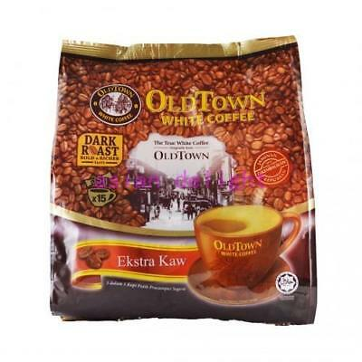 Old Town Malaysia Instant White Coffee 3 in 1 OldTown Dark Roast 35g x15 sachets