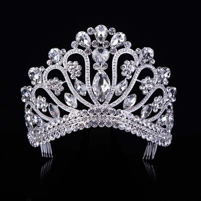 Gold Silver Fashion Party Adult Wedding Party Pageant Prom Tiara Crown 176