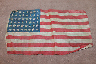"""Original Pre to Early WW2 U.S. National 48 Star Printed Linen Flag, 13"""" by 8"""""""