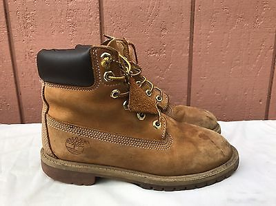 Kids Timberland 6 Inch Premium Waterproof Boot Wheat Nubuck 12909 US 4M YOUTH